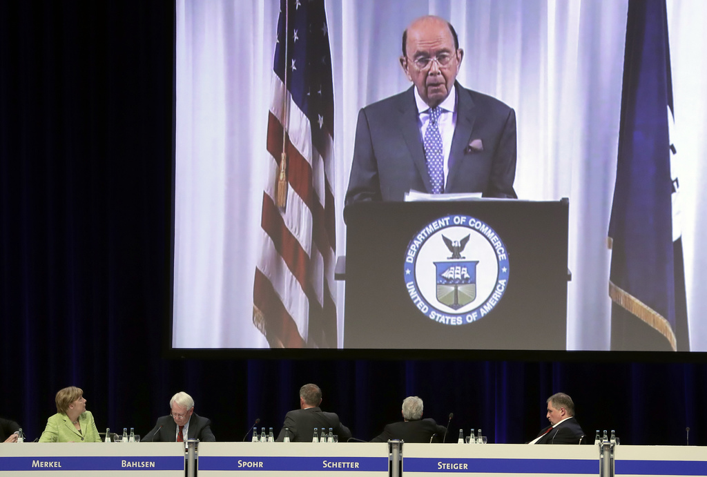 USA commerce secretary backs free trade deal with Europe
