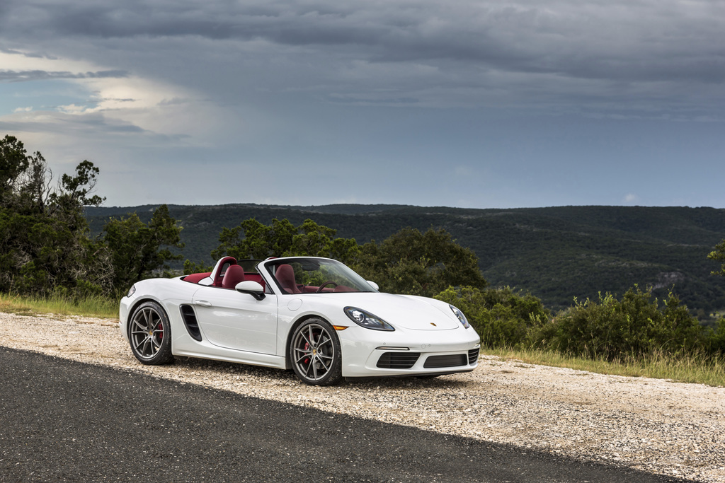 This photo provided by Porsche Cars North America, Inc. shows the 718 Boxster. Porsche's mid-engine convertible sports car, the Boxster...