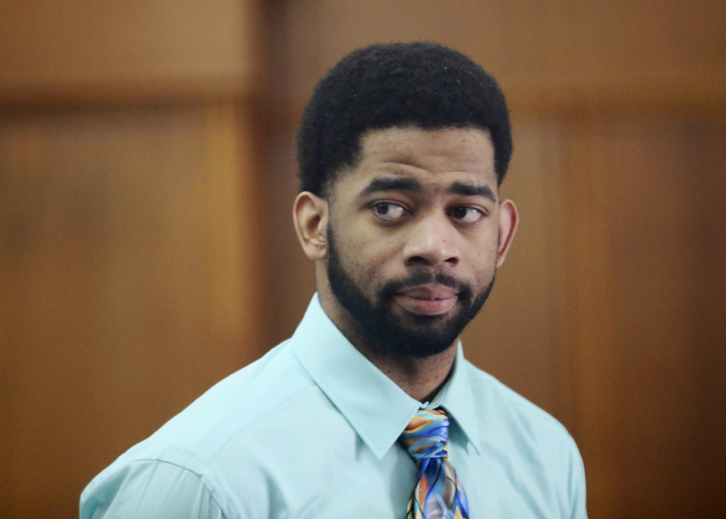 FILE - In this June 20, 2017, file photo, former Milwaukee police officer Dominique Heaggan-Brown appears in Milwaukee County Court in ...