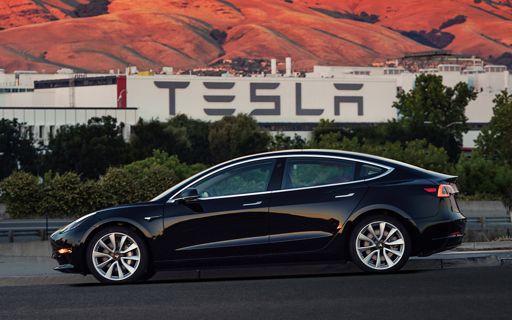 FILE - This file image provided by Tesla Motors shows the Tesla Model 3 sedan. Tesla Motors Inc. reports earnings on Wednesday, Aug. 2, 2017. (Courtes...