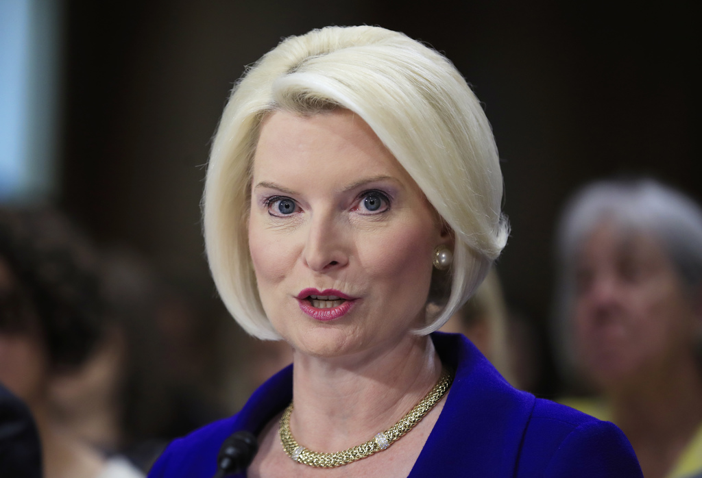 Callista Gingrich of Virginia, wife of former House Speaker Newt Gingrich, testifies on Capitol Hill in Washington, Tuesday, July 18, 2017, before the...