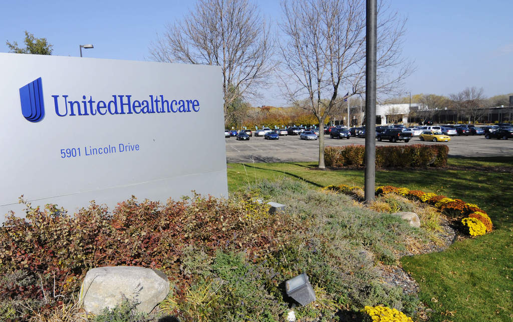 FILE - This Tuesday, Oct. 16, 2012, file photo, shows part of the UnitedHealth Group, Inc. campus in Minnetonka, Minn. On Wednesday, Aug. 2, 2017, the...