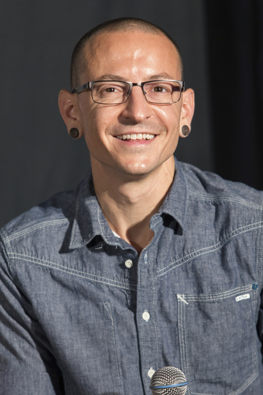 FILE - In this June 18, 2014 file photo, Chester Bennington of Linkin Park attends Linkin Park's induction into the Guitar Center's RockWalk in Los An...
