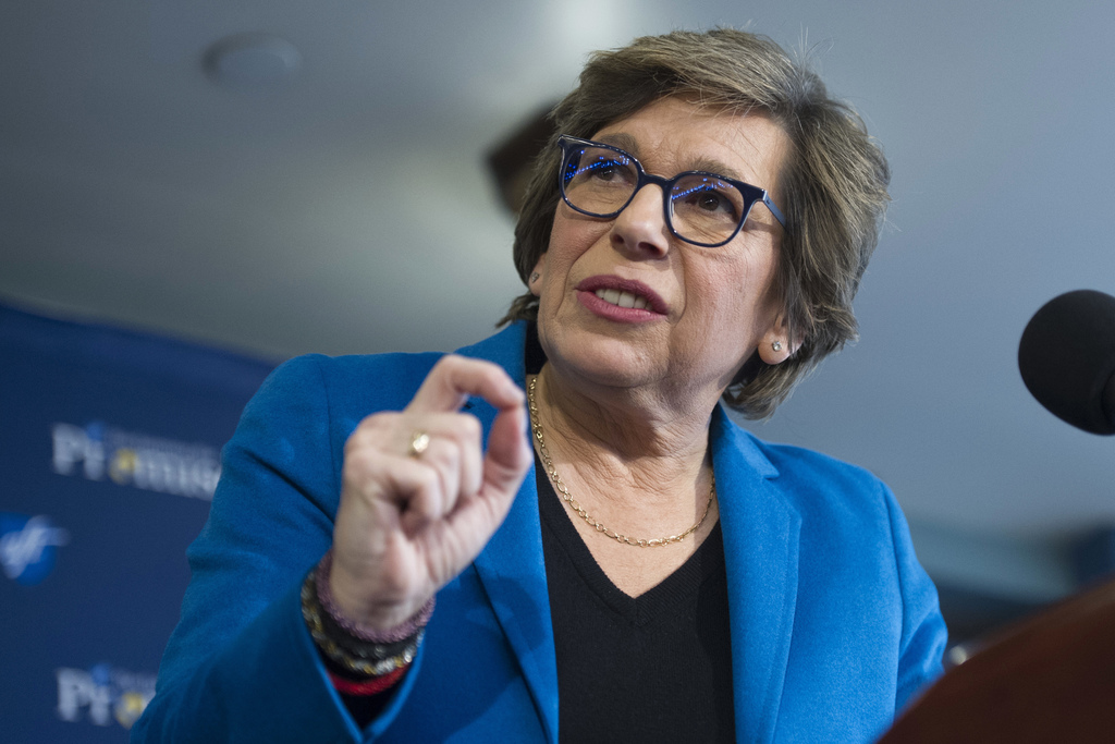 FILE - In this Jan. 9, 2017, file photo, American Federation of Teachers President Randi Weingarten speaks about education at the National Press Club ...
