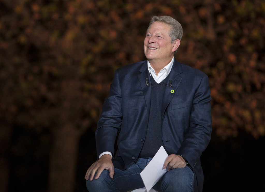 "This image released by Paramount Pictures shows Al Gore in ""An Inconvenient Sequel: Truth to Power."" (Jensen Walker/Paramount Pictures via AP)"