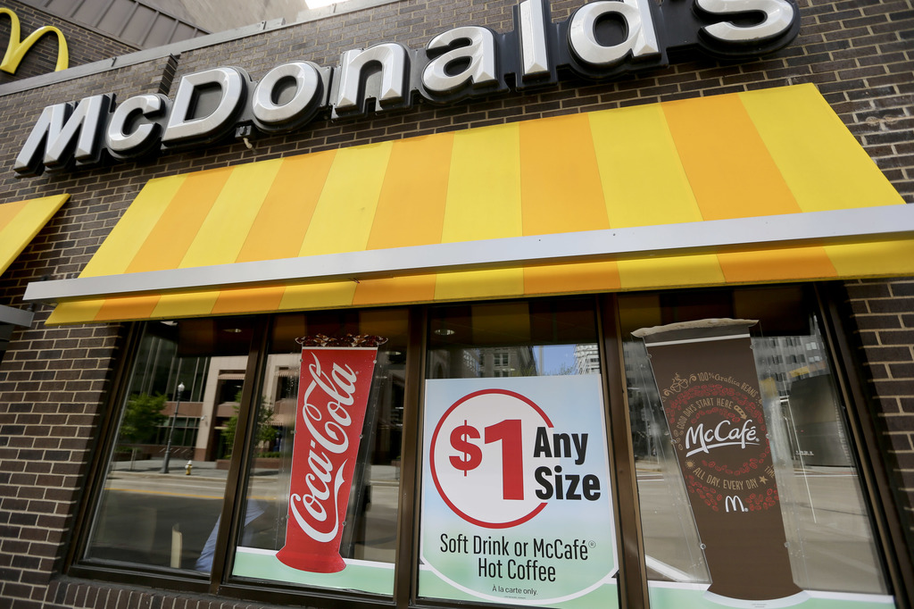 FILE - This Monday, April 24, 2017, file photo shows a McDonald's restaurant in downtown Pittsburgh. McDonald's Corp. reports earnings, Tuesday, July ...