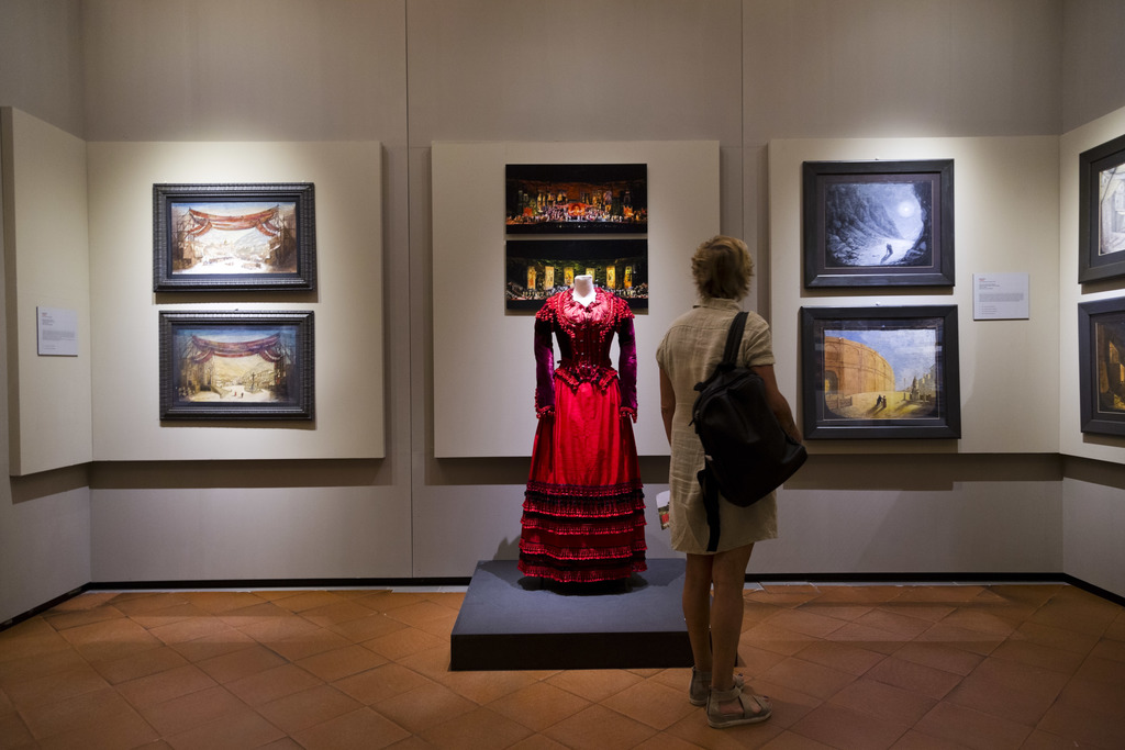 The costume by Anna Anni for Carmen that was worn in 2009 by soprano Nancy Fabiola Herrera for the direction of Franco Zeffirelli is on display during...