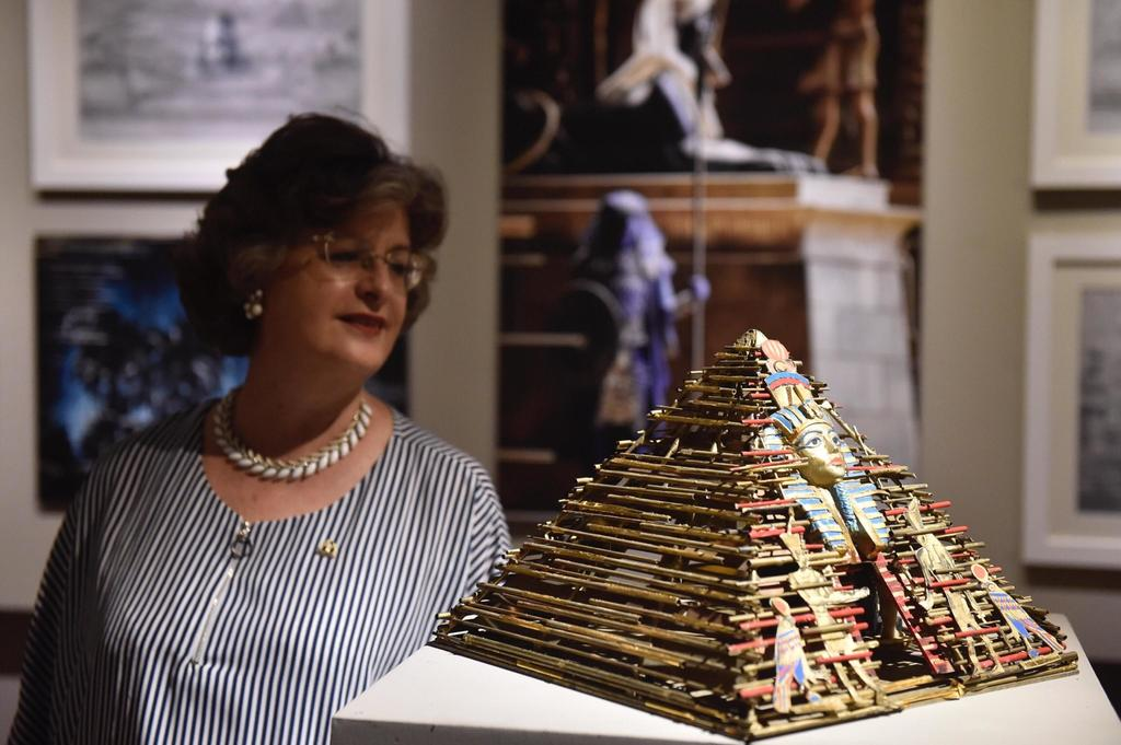 A woman visits the Franco Zeffirelli International Centre for the Performing Arts during a preview in the late 17th century San Firenze Complex in Flo...