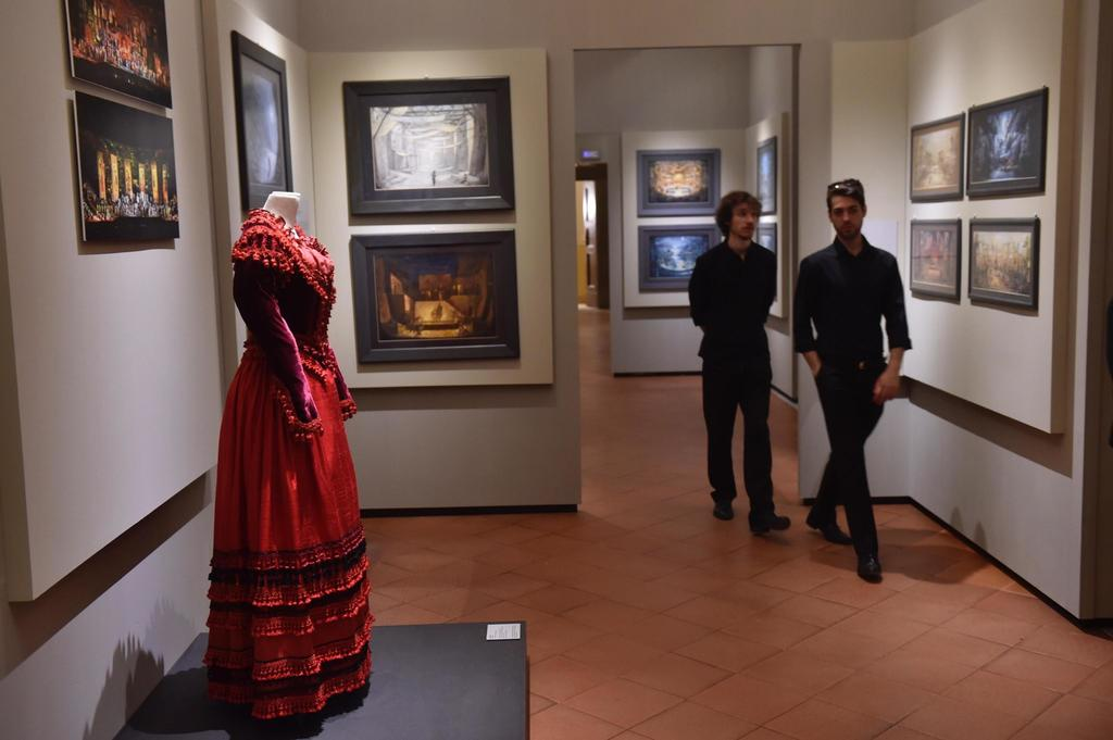 People visit the Franco Zeffirelli International Centre for the Performing Arts during a preview in the late 17th century San Firenze Complex in Flore...