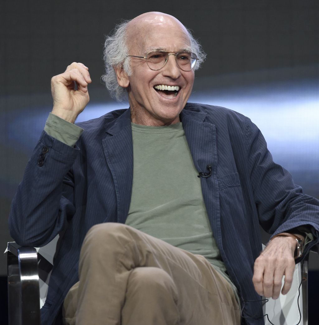 """Actor/creator/executive producer Larry David speaks in the """"Curb Your Enthusiasm"""" panel during the HBO Television Critics Association Summer Press Tou..."""
