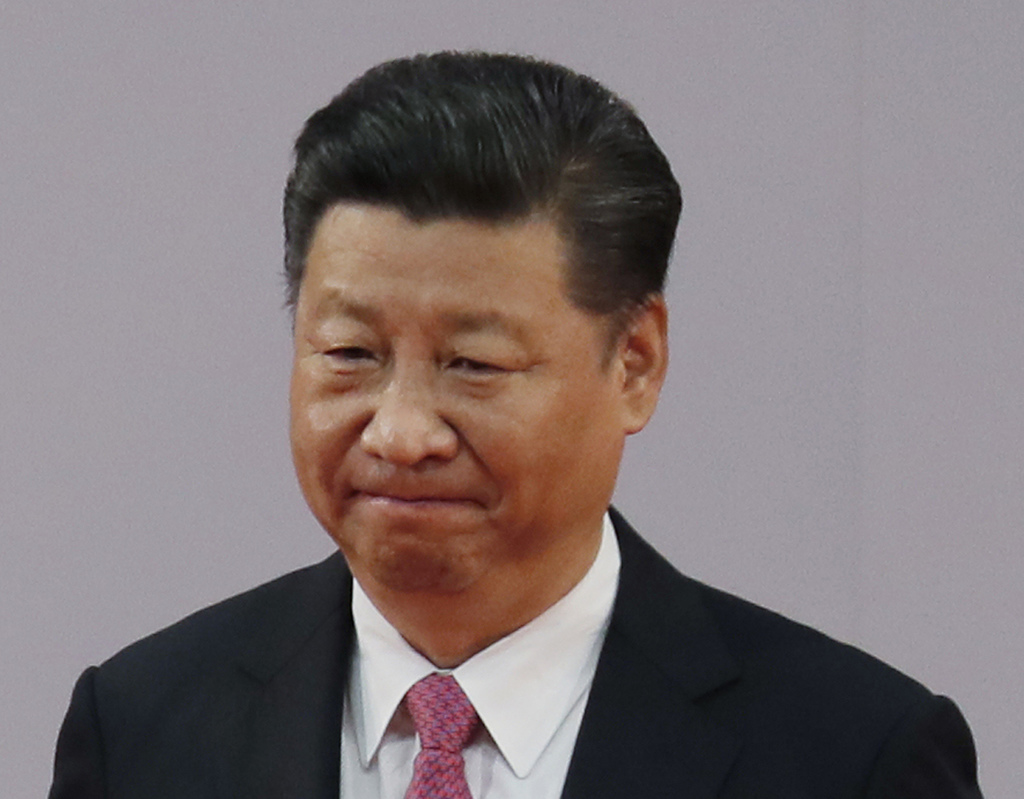 FILE - In this July 1, 2017 file photo, Chinese President Xi Jinping leaves after administering the oath for a five-year term in office at the Hong Ko...