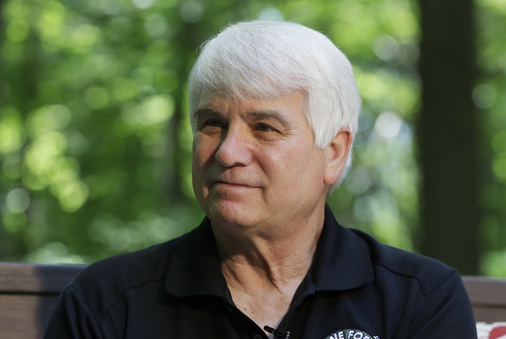 FILE - In this June 9, 2017 file photo, former Army medic James McCloughan is interviewed in South Haven, Mich. McCloughan, from Michigan, who risked ...