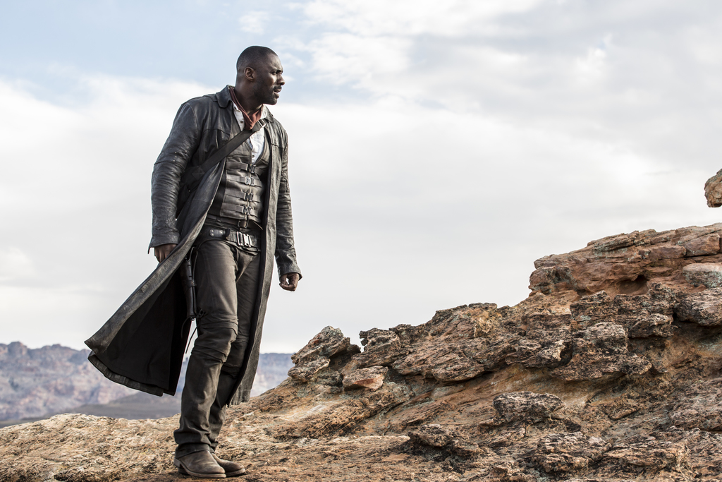 "This image released by Sony Pictures shows Idris Elba in the Columbia Pictures film, ""The Dark Tower."" (Ilze Kitshoff/Columbia Pictures/Sony via AP)"