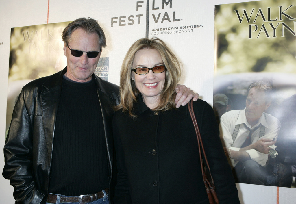 """FILE- This April 26, 2006 file photo shows Sam Shepard and Jessica Lange as they arrive to the premiere of his film, """"Walker Payne,"""" during the Tribec..."""