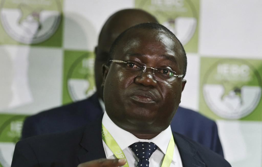 In this photo taken Thursday, July 6, 2017, Christopher Msando, an information technology official for Kenya's electoral commission, speaks at a press...