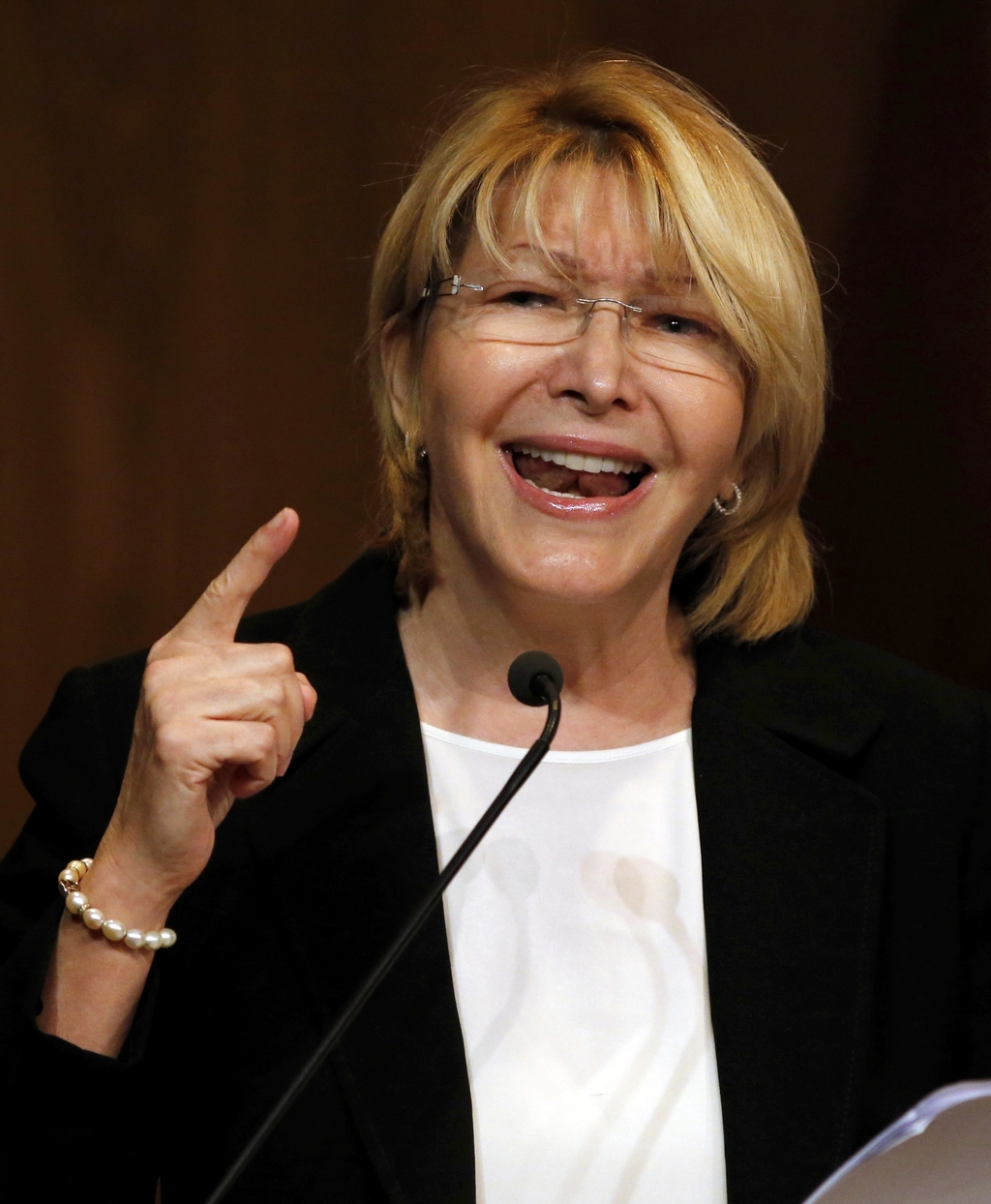Venezuela's General Prosecutor Luisa Ortega Diaz speaks during a news conference at her office in Caracas, Venezuela, Monday, July 31, 2017.  Electora...