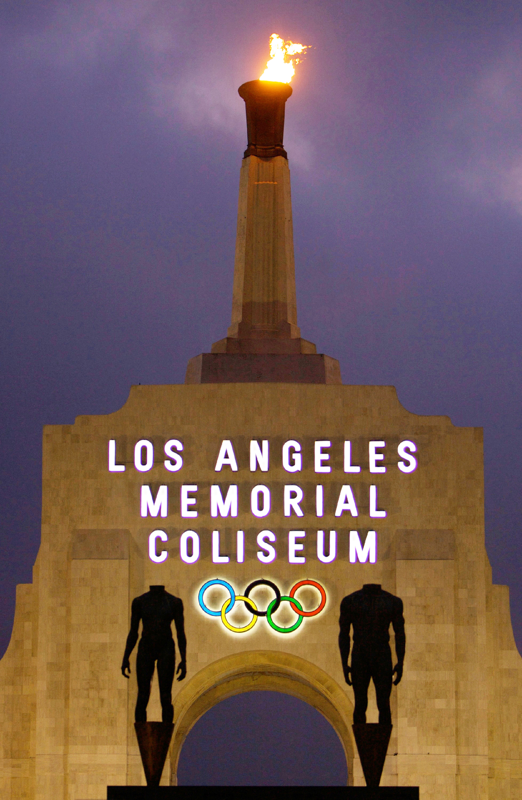FILE - This Feb. 13, 2008, file photo shows the facade of The Los Angeles Memorial Coliseum in Los Angeles. It was announced Monday, July 31, 2017, th...