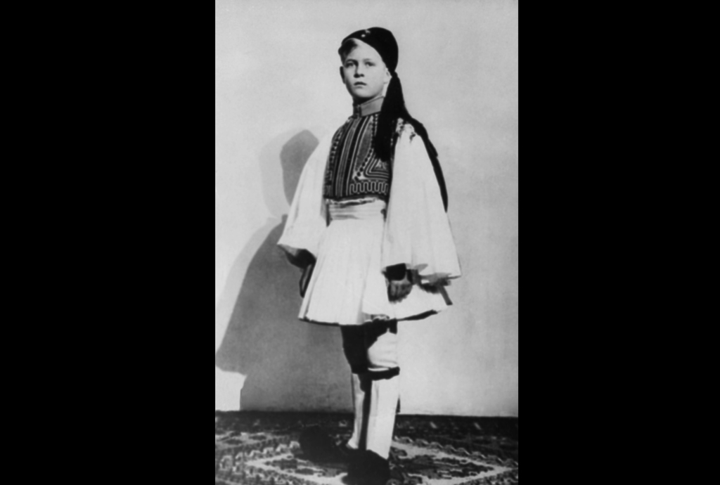 FILE - In this 1930 file photo Prince Philip of Greece, now the Duke of Edinburgh, and husband of Queen Elizabeth II, poses in Greek costume, at an un...