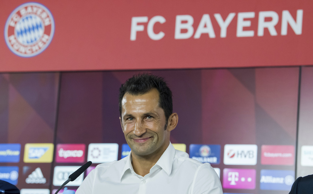 Former soccer player Hasan Salihamidzic attends a news conference in Munich, Germany, Monday, July 31, 2017.  Salihamidzic became new sports director ...