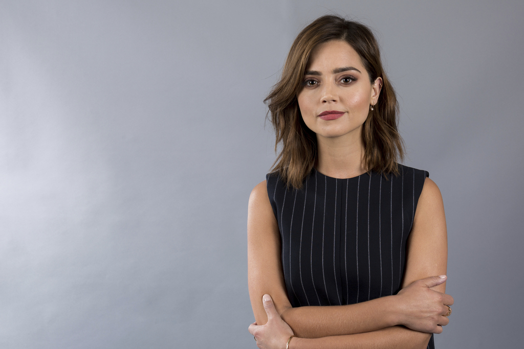 FILE - In this July 28, 2016 file photo, actress Jenna Coleman poses for a portrait during the 2016 Television Critics Association summer press tour i...