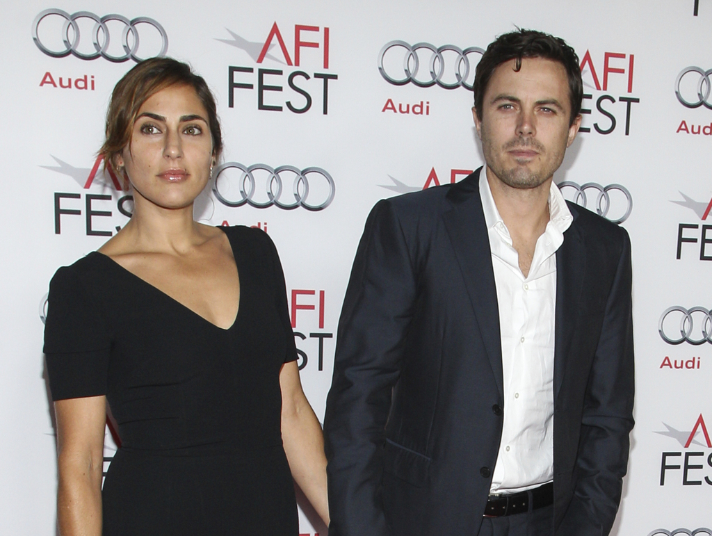 "FILE - In this Nov. 9, 2013 file photo, actor Casey Affleck and his wife Summer Phoenix appear at the 2013 AFI Fest premiere of ""Out of the Furnace"" i..."