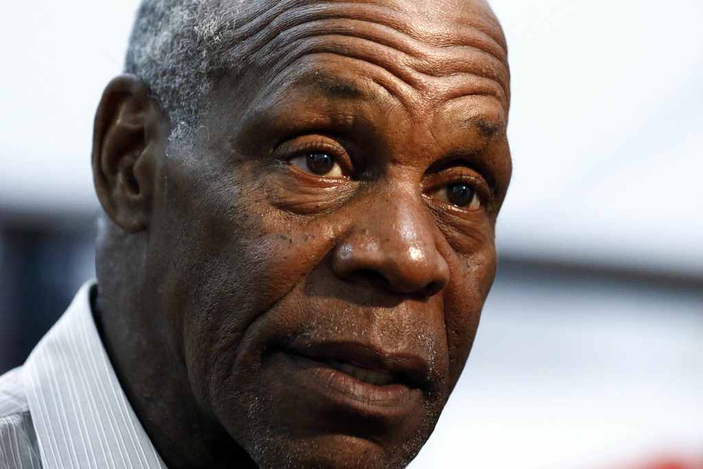 In this Tuesday, Aug. 1, 2017, photo, actor and human rights activist Danny Glover speaks with reporters after addressing UAW members and Nissan emplo...
