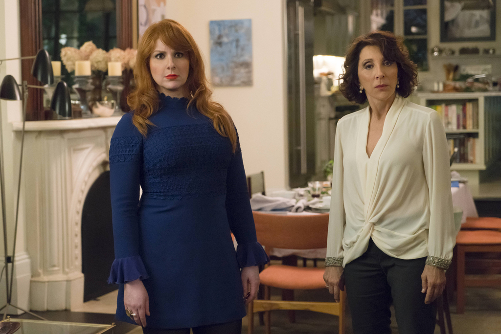"""In this image released by Hulu, Julie Klausner, left, and Andrea Martin appear in the series, """"Difficult People."""" The Hulu comedy is packed with pop-c..."""