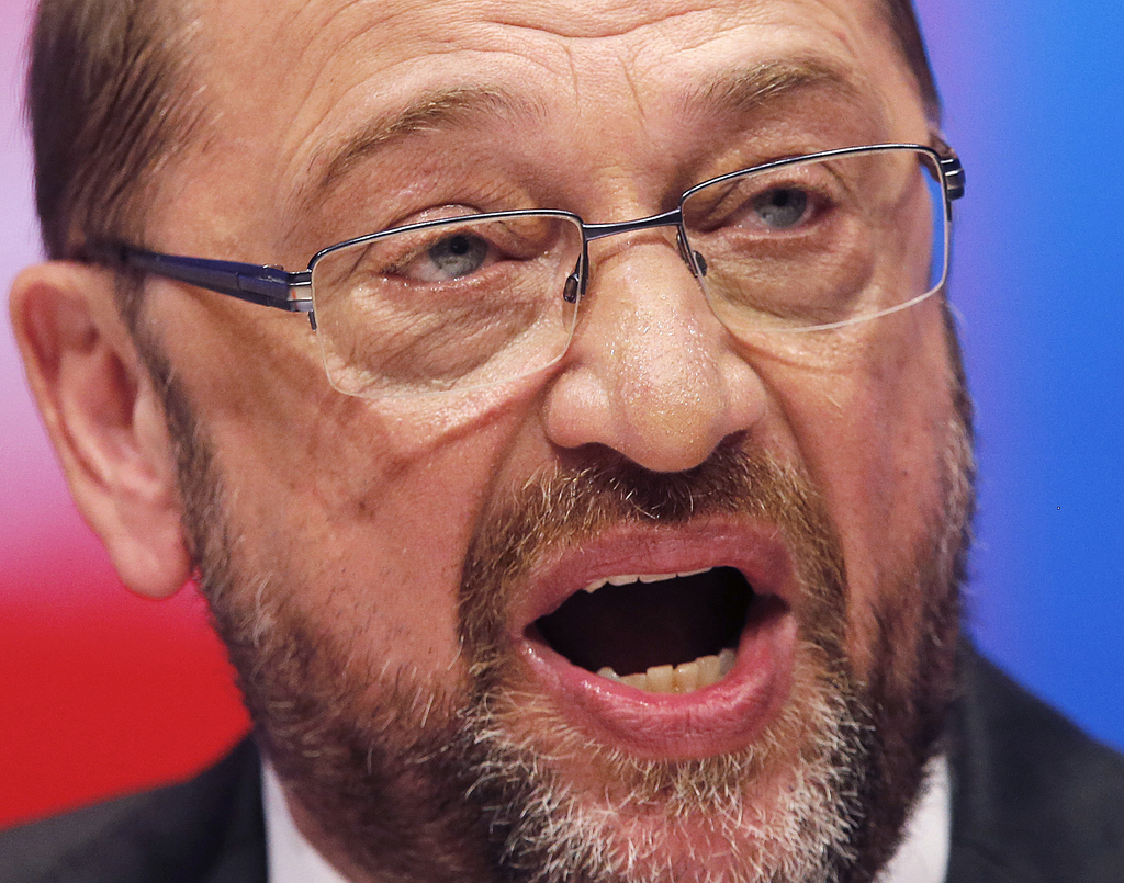 FILE - In this June 25, 2017 file photo  Social Democrats'  leader and top candidate for the German elections in September Martin Schulz speaks during...