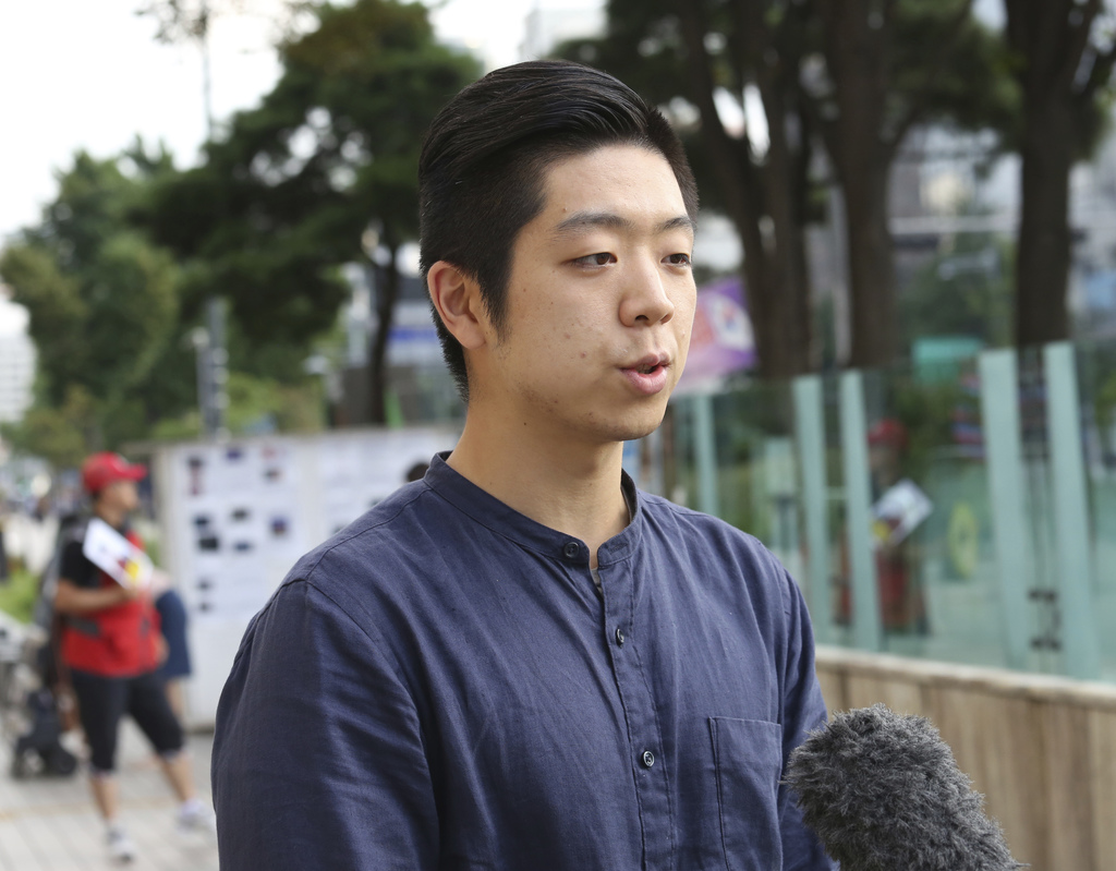 In this Aug. 1, 2017 photo, Yang Seung-jun, 26, speaks during an interview in Seoul, South Korea. Living just across the demilitarized zone from North...