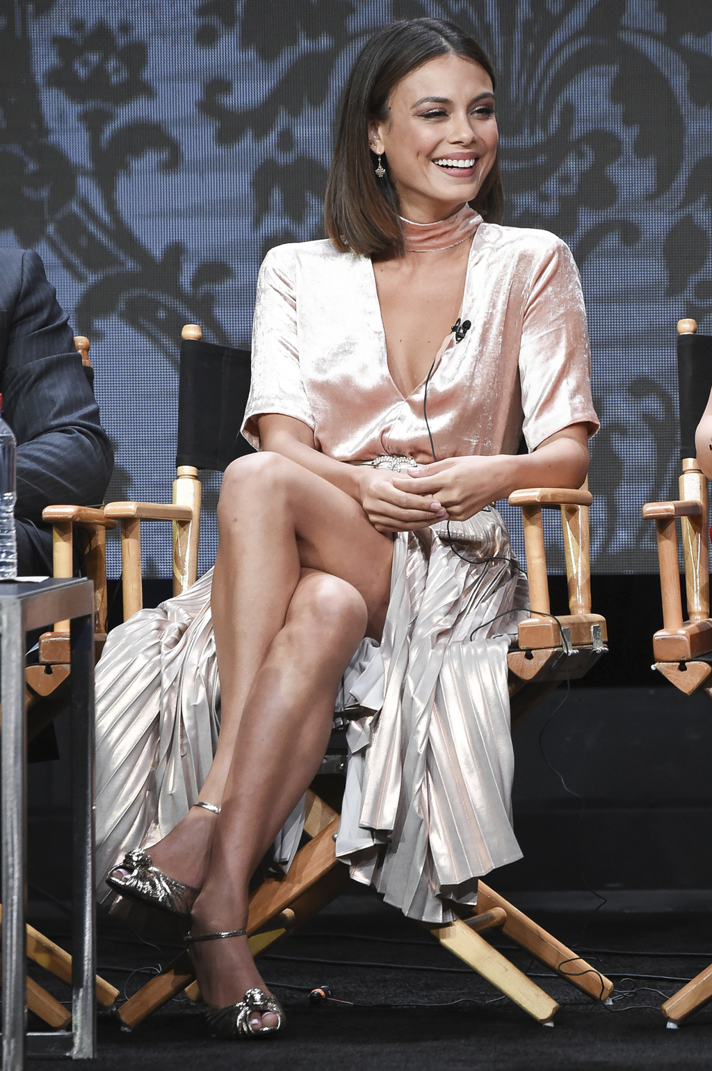 "Nathalie Kelley participates in the ""Dynasty"" panel during The CW portion of the 2017 Summer TCA's at the Beverly Hilton Hotel on Wednesday, Aug. 2, 2..."