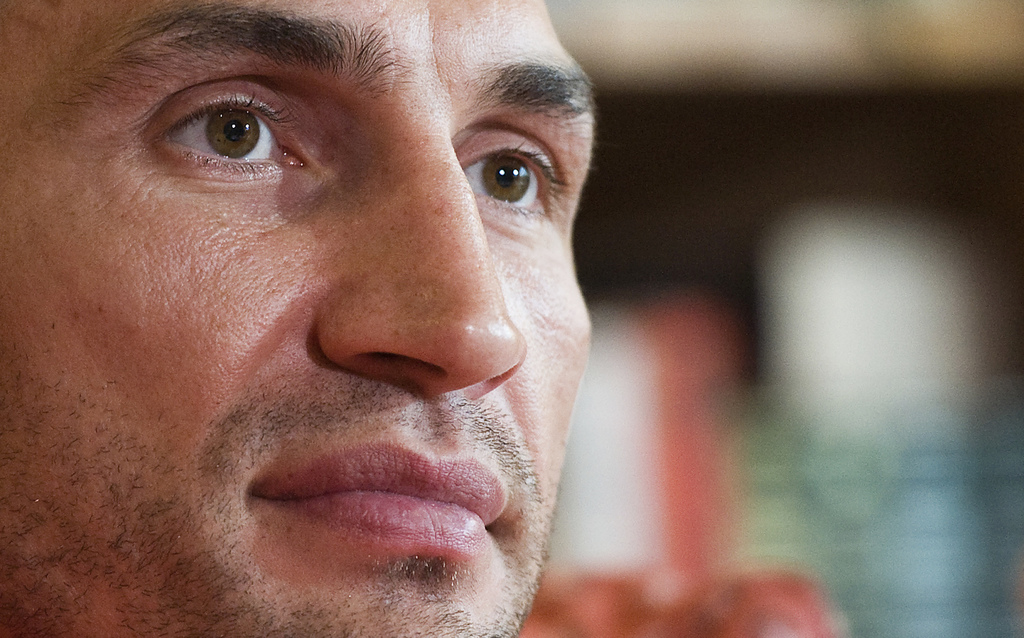 FILE - In this Nov. 24, 2010 file photo box champion Wladimir Klitschko of Ukraine looks on during a press conference in Going, Austria, Former heavyw...