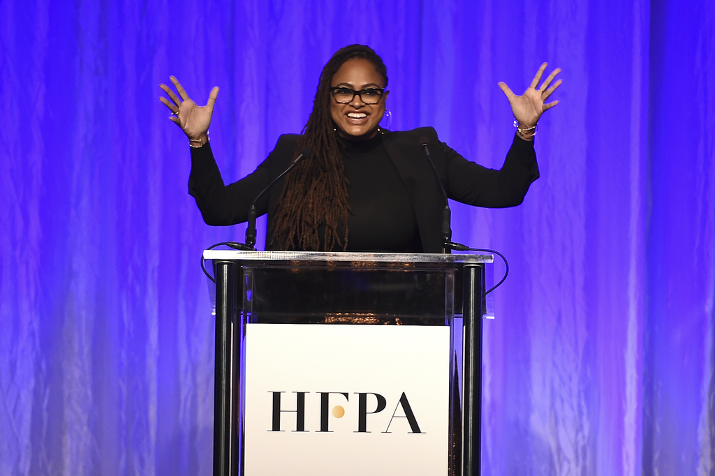Ava DuVernay speaks at the Hollywood Foreign Press Association Grants Banquet at the Beverly Wilshire Hotel on Wednesday, Aug. 2, 2017, in Beverly Hil...