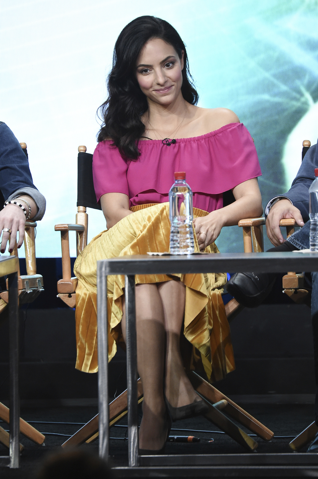 """Tala Ashe participates in the """"DC's Legends of Tomorrow"""" panel during The CW portion of the 2017 Summer TCA's at the Beverly Hilton Hotel on Wednesday..."""