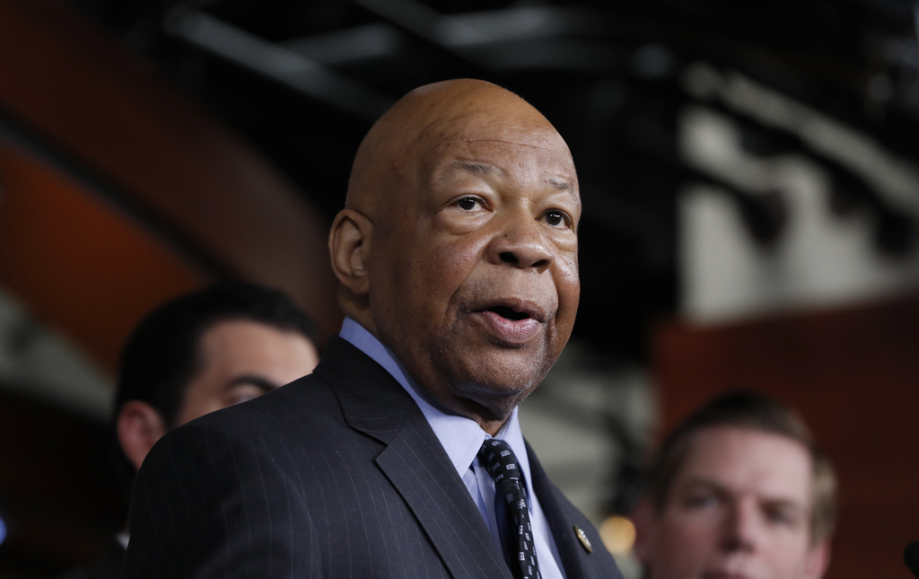 In this photo taken May 17, 2017, Rep. Elijah Cummings, D-Md., ranking member on the House Oversight and Government Reform Committee, speaks during a ...
