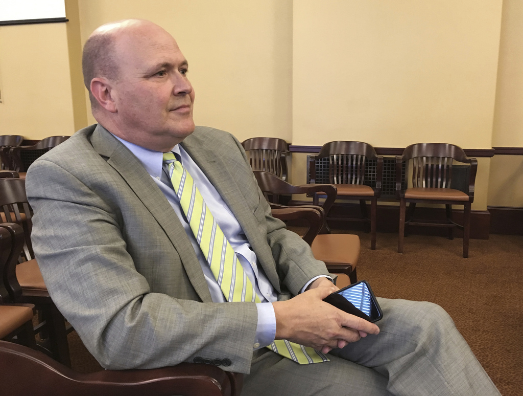 John Q. Cannon looks on after a hearing Wednesday, Aug. 2, 2017, where Utah lawmakers recommended him for a top job over seeing the legislature's offi...