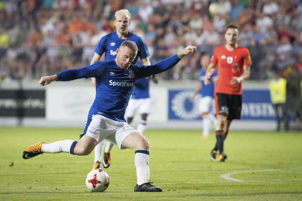 Everton's Wayne Rooney in action during the Europa League Qualifying Third Round, Second Leg soccer match between Everton and Ruzomberok in Ruzomberok...