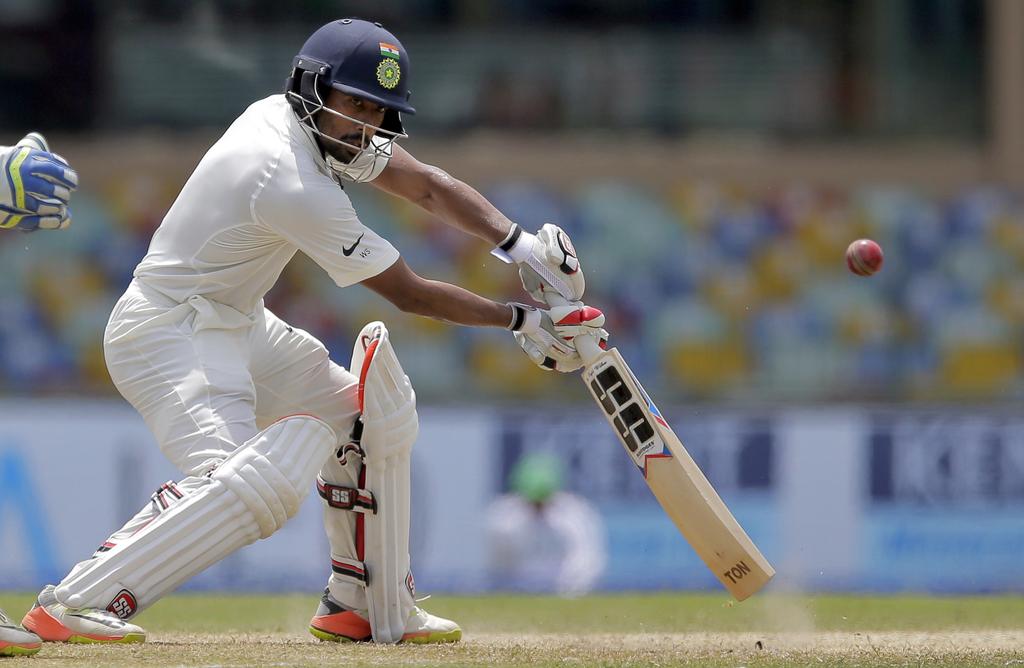 India's Wriddhiman Saha plays a shot during their second cricket test match against Sri Lanka in Colombo, Sri Lanka, Friday, Aug. 4, 2017. (AP Photo/E...
