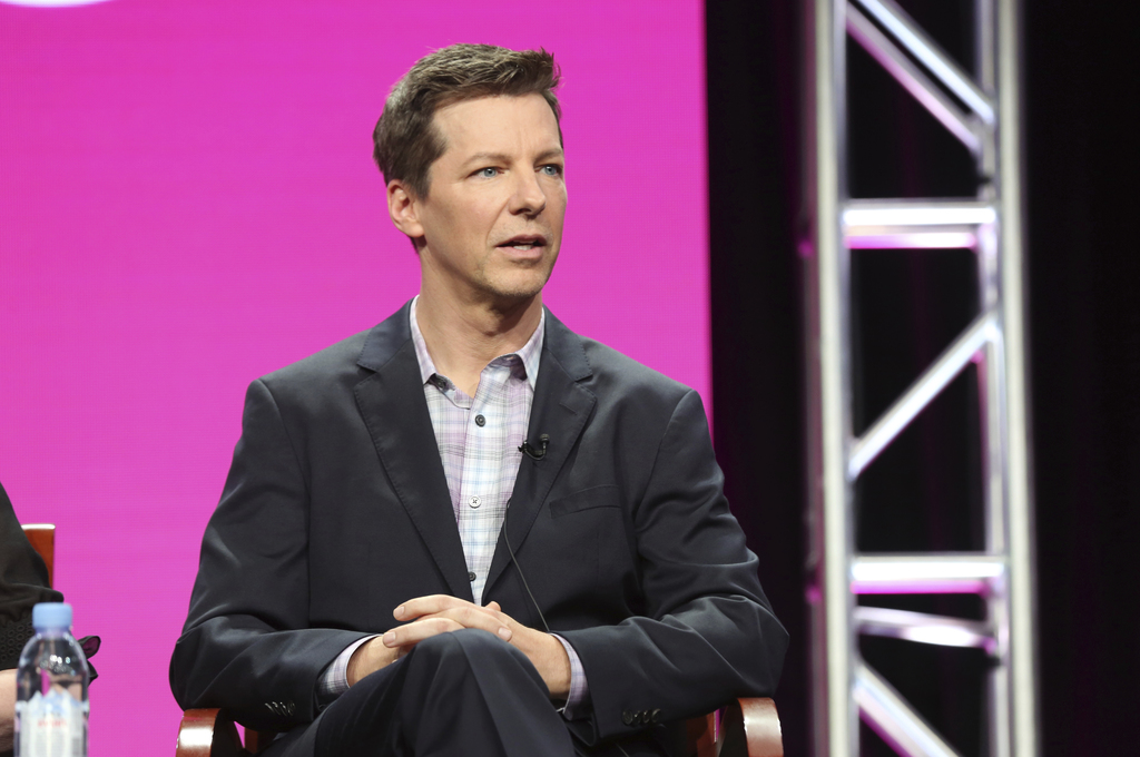 "Sean Hayes participates in the ""Will & Grace"" panel during the NBC Television Critics Association Summer Press Tour at the Beverly Hilton on Thursday,..."