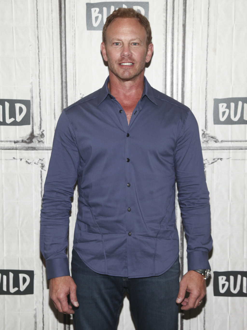 "FILE - In this Aug. 3, 2017 file photo, cast members Ian Ziering participates in the BUILD Speaker Series to discuss ""Sharknado 5: Global Swarming"" at..."