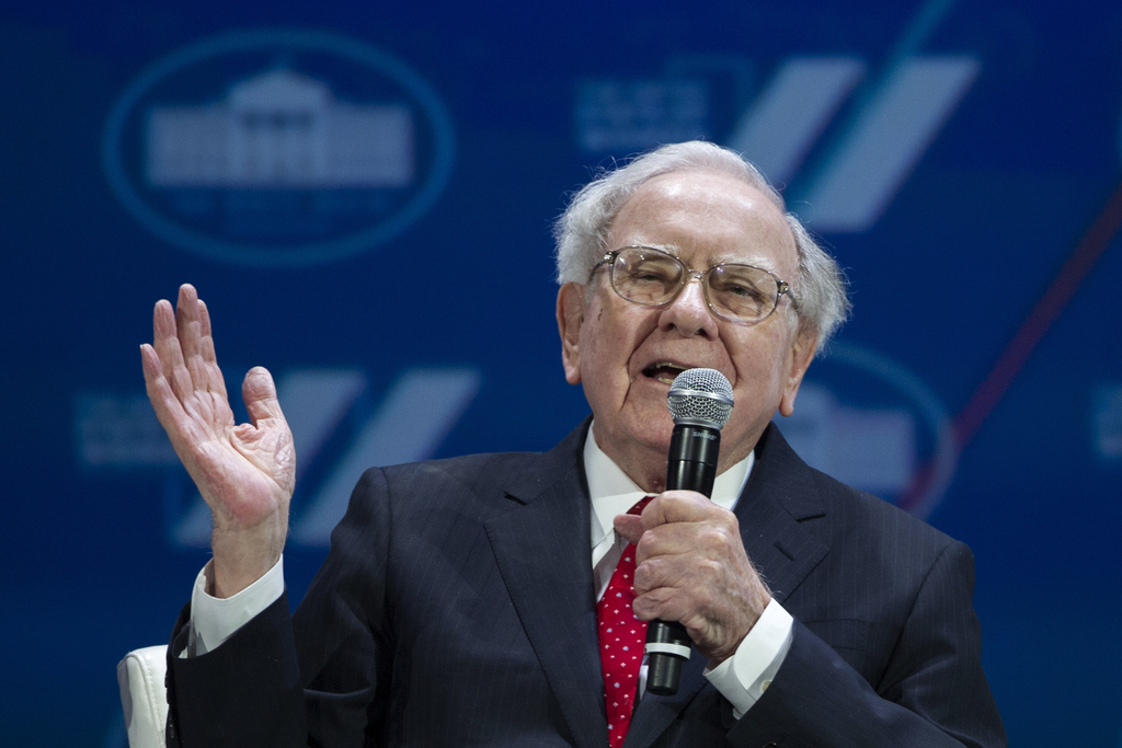 FILE - In this Tuesday, June 14, 2016, file photo, Berkshire Hathaway Chairman and CEO Warren Buffett addresses the White House Summit on the United S...