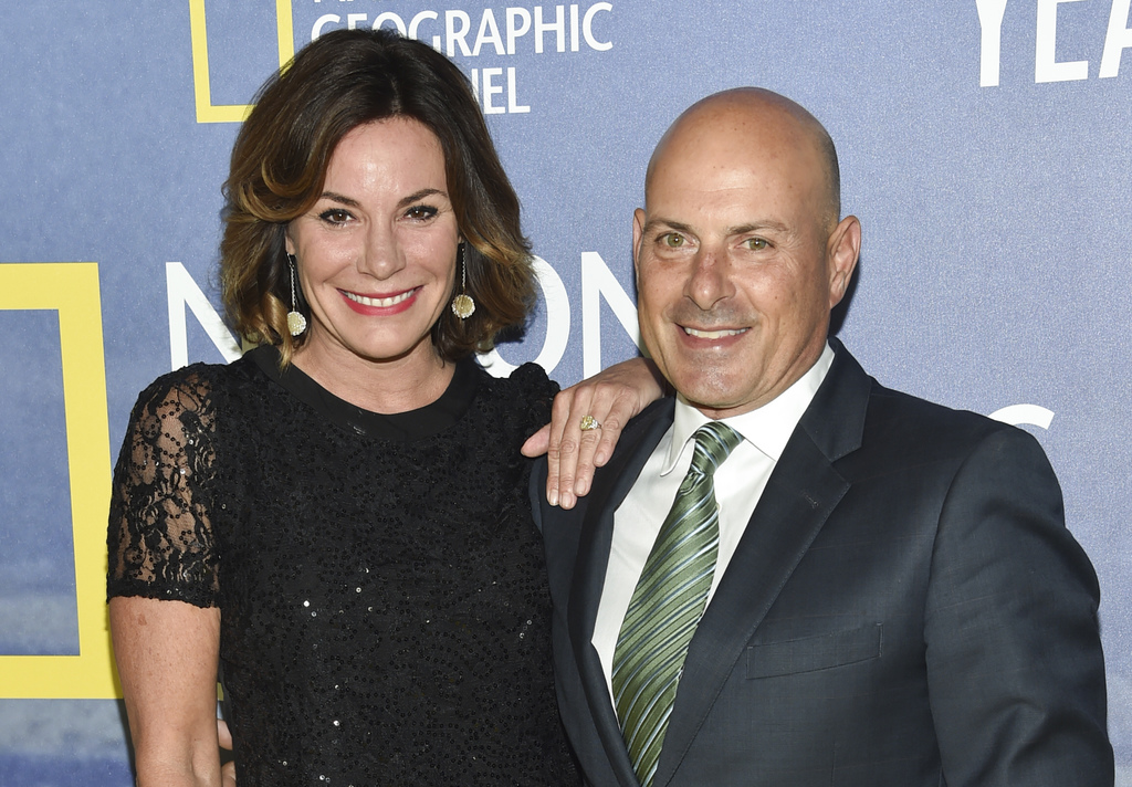 FILE - In this Sept. 21, 2016 file photo, LuAnn de Lesseps and her then fiance Thomas D'Agostino attend the premiere of National Geographic Channel's,...