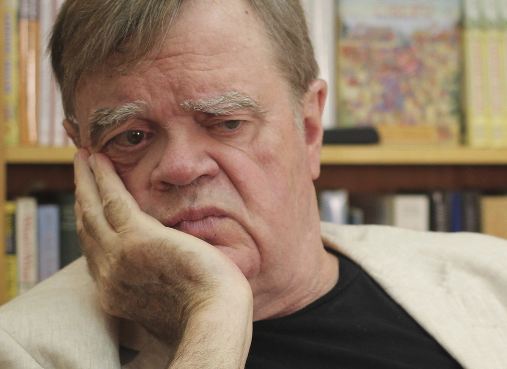 """In this July 26, 2017 photo, Garrison Keillor, creator and former host of, """"A Prairie Home Companion,"""" appears at his St. Paul, Minn., office. Now tha..."""