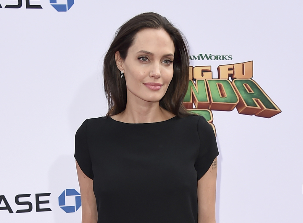 "FILE - In this Jan. 16, 2016 file photo, Angelina Jolie arrives at the world premiere of ""Kung Fu Panda 3,"" in Los Angeles. Vanity Fair is standing by..."