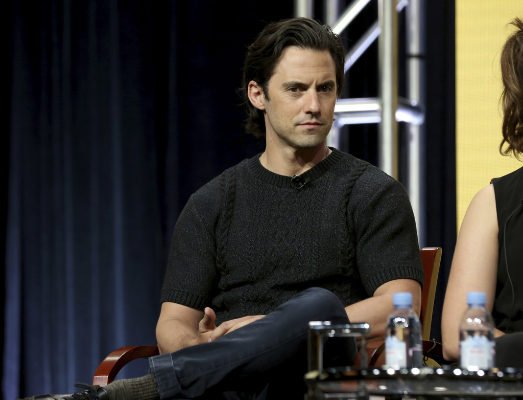 "Milo Ventimiglia participates in the ""This Is Us"" panel during the NBC Television Critics Association Summer Press Tour at The Beverly Hilton hotel on..."