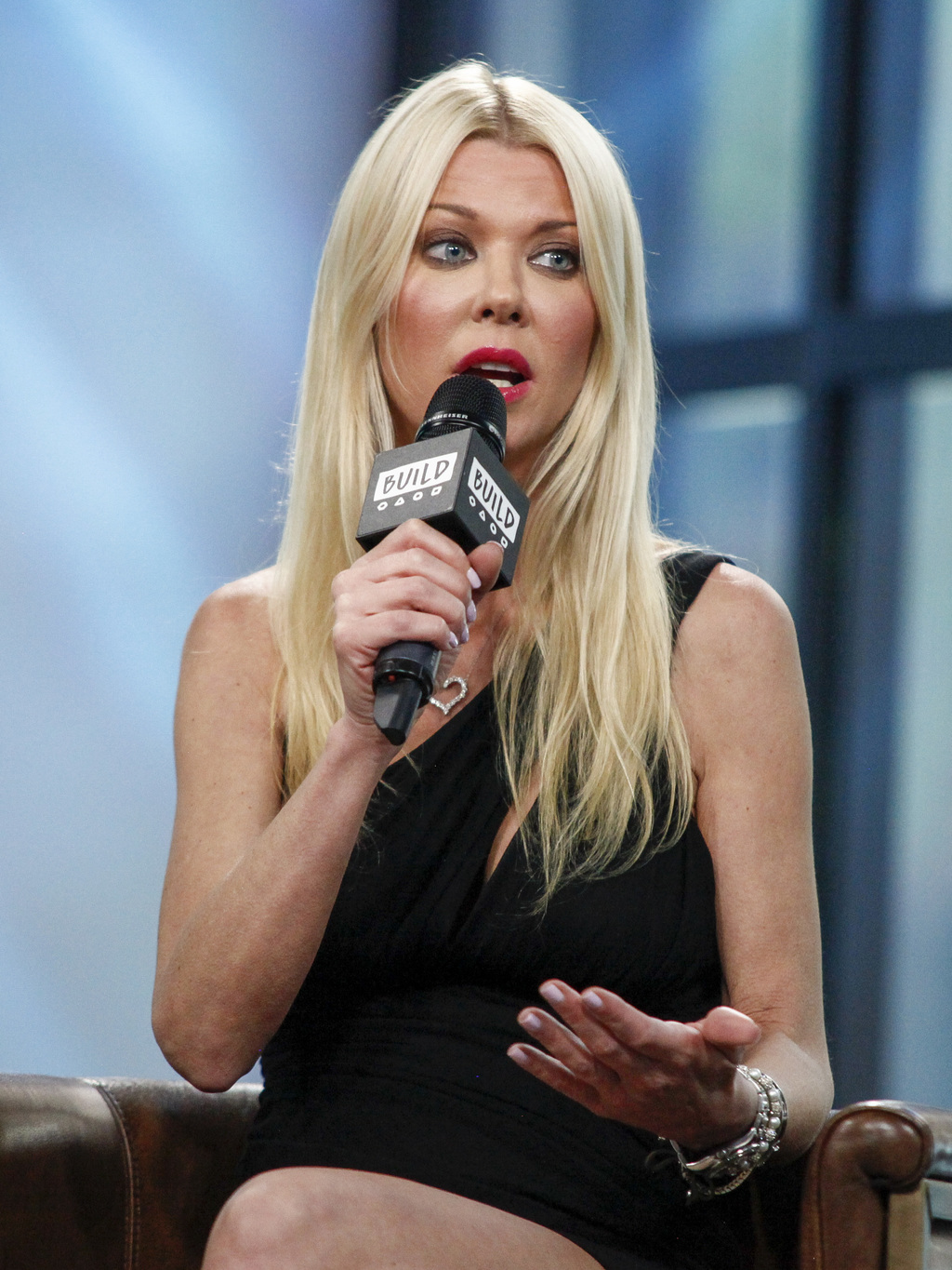 "Tara Reid participates in the BUILD Speaker Series to discuss ""Sharknado 5: Global Swarming"" at AOL Studios on Thursday, Aug. 3, 2017, in New York. (P"