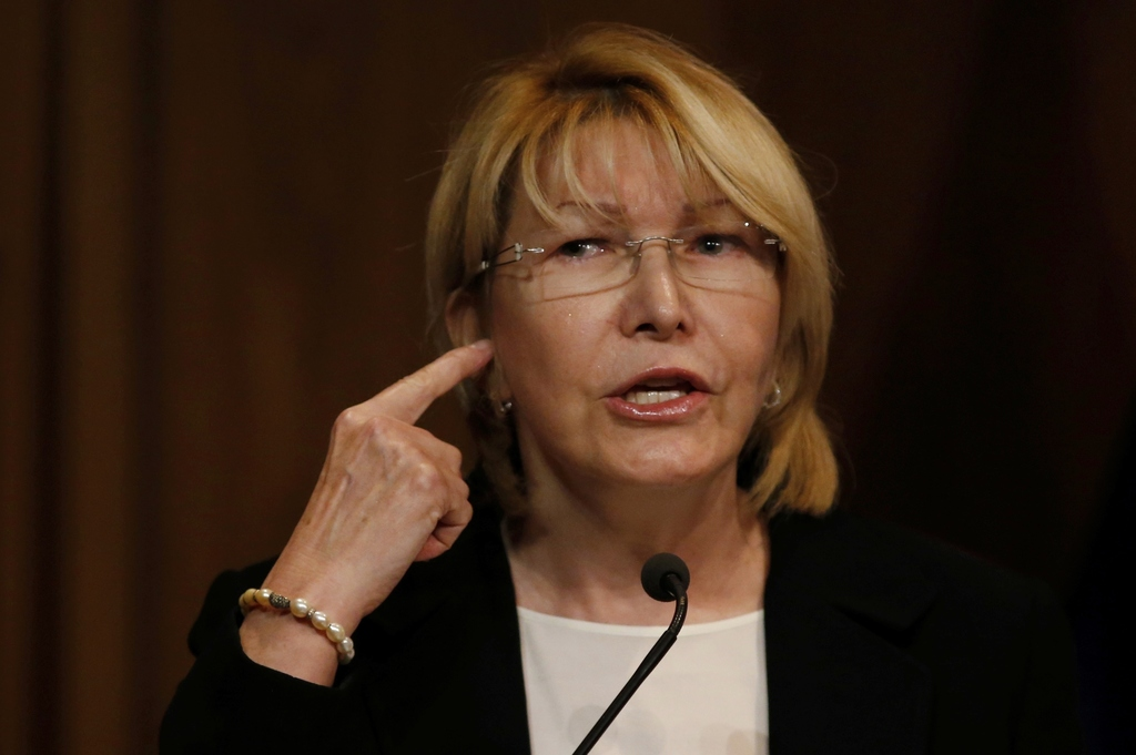 FILE - In this July 31, 2017 file photo, Venezuela's General Prosecutor Luisa Ortega Diaz speaks during a news conference at her office in Caracas, Ve...