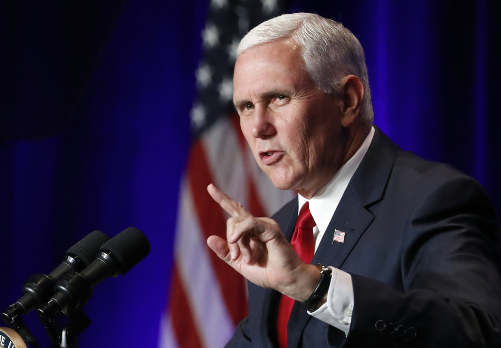 Vice President Mike Pence speaks at the Young America's Foundation's 39th annual National Conservative Student Conference, Friday, Aug. 4, 2017, in Wa...