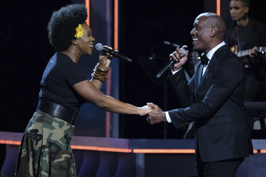 India Arie and Tyrese Gibson perform at the Black Girls Rock! Awards at the New Jersey Performing Arts Center on Saturday, Aug. 5, 2017, in Newark, N....