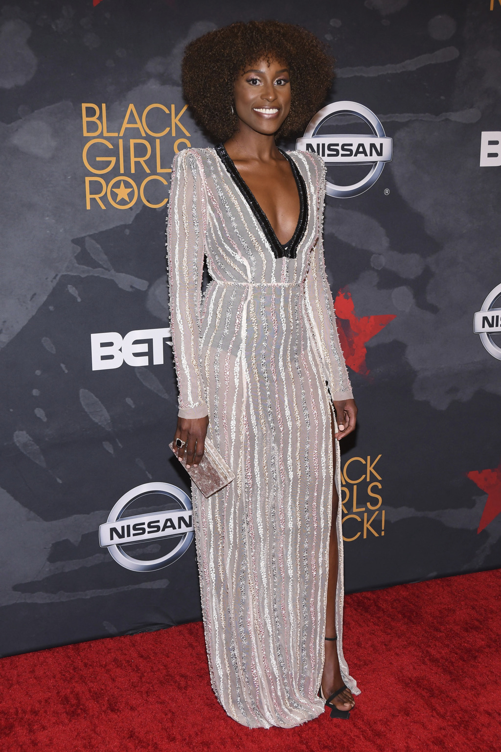 Issa Rae attends the Black Girls Rock! Awards at the New Jersey Performing Arts Center on Saturday, Aug. 5, 2017, in Newark, N.J. (Photo by Charles Sy...
