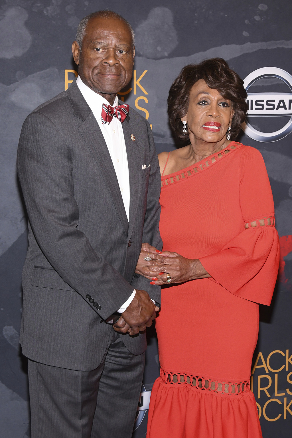Congresswoman Maxine Waters, right, and husband Sid Williams attend the Black Girls Rock! Awards at the New Jersey Performing Arts Center on Saturday,...